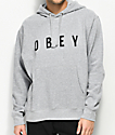 Obey Anyway Heather Grey Hoodie
