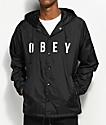 Obey Anyway chaqueta entrenador negra