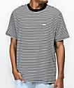 Obey Apex Black & White Striped Knit T-Shirt