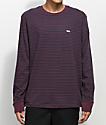 Obey Apex Purple & Black Long Sleeve Knit Shirt