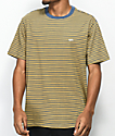 Obey Apex Yellow & Blue Striped Knit T-Shirt