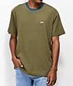 Obey Apex camiseta azul y marrón de rayas