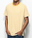 Obey Apex camiseta de rayas amarillas y blancas
