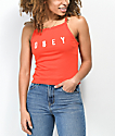 Obey Ava Anyways camiseta corta sin mangas en rojo