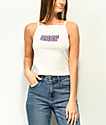 Obey Ava Better Days White Crop Tank Top
