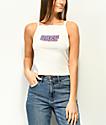 Obey Ava Better Days camiseta corta sin mangas en blanco