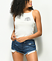 Obey Ava Mira Rosa White Crop Tank Top