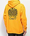 Obey Broken Eagle sudadera con capucha dorada