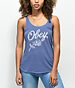 Obey Careless Whispers Blue Track Tank Top