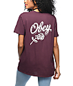 Obey Careless Whispers camiseta en color vino