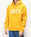 Obey Collegiate sudadera con capucha dorada