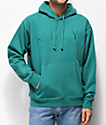 Obey Construct Embroidered Teal Hoodie