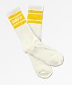 Obey Cooper II calcetines amarillos y blancos