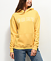 Obey Core Varsity Arched Delancey Yellow Hoodie
