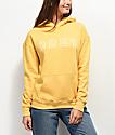 Obey Core Varsity Arched Delancey sudadera con capucha amarilla