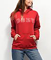 Obey Core Varsity Arched Delancey sudadera con capucha roja