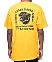 Obey Crash & Burn Gold T-Shirt