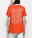 Obey Creeper Static Poppy Orange T-Shirt