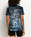 Obey Creeper Status Black Tie Dye T-Shirt