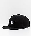 Obey Decades Black Corduroy Snapback Hat