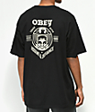 Obey Dissent & Defiance Eagle camiseta negra