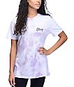 Obey Distressed Dewallen camiseta lavanda