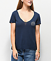 Obey Dylan Rose Noir Navy T-Shirt