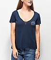 Obey Dylan Rose Noir camiseta azul marino