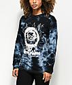 Obey End Of The World camiseta negra de manga larga con efecto tie dye