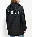 Obey English O gabardina negra con capucha