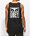Obey Eyes Icon Black Tank Top