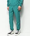 Obey Eyes pantalones de chándal en verde azul