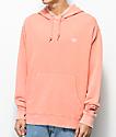 Obey Faded sudadera con capucha teñida en color coral