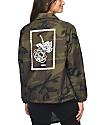 Obey Fleur chaqueta entrenador camuflada