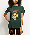 Obey Flower Skull Forest Green T-Shirt
