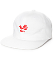 Obey Flower White 6 Panel Hat