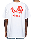 Obey Flower camiseta blanca