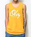 Obey Get Me Like camiseta dorada sin mangas