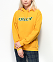 Obey Hedy Box Fit New Gold Hoodie