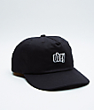Obey Highland Black Strapback Hat