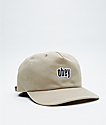 Obey Highland Pale Khaki Strapback Hat