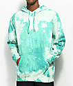 Obey Jumble Lo-Fi Teal Bleach Washed Hoodie