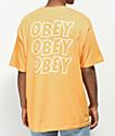 Obey Jumble Lo-Fi camiseta dorada