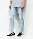 Obey Juvee II Bleach Indigo Destroyed Denim Jeans