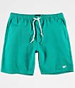 Obey Keble shorts de mezclilla en azul marino