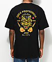 Obey Kiss Me Deadly Tiger camiseta negra