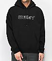 Obey Line sudadera con capucha negra