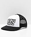 Obey Loot gorra de camionero negra y blanca