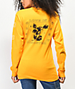 Obey Love Is A Disaster Salvage Gold Long Sleeve T-Shirt