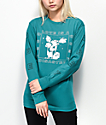Obey Love Is A Disaster Tea Salvage Green Long Sleeve T-Shirt